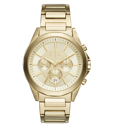 ARMANI EXCHANGE AX2602 gold-plated stainless steel watch