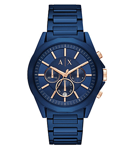 ARMANI EXCHANGE AX2607 blue stainless steel chronograph watch