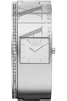 ARMANI EXCHANGE AX4203 crystal-embellished watch