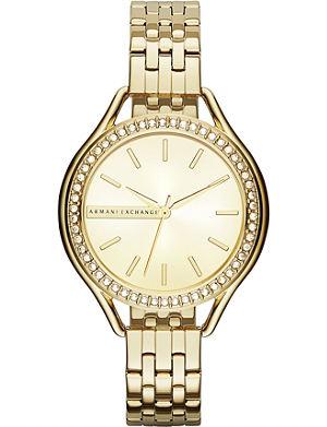 ARMANI EXCHANGE AX4255 crystal-embellished watch