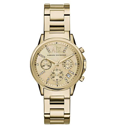 ARMANI EXCHANGE 黄金 bracelet watch