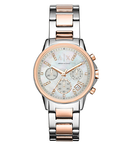 ARMANI EXCHANGE Ax4331 不锈钢和珍珠母手表 (珍珠母