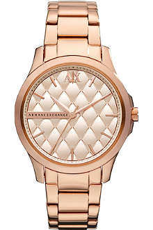 ARMANI EXCHANGE AX5202 rose gold-toned watch