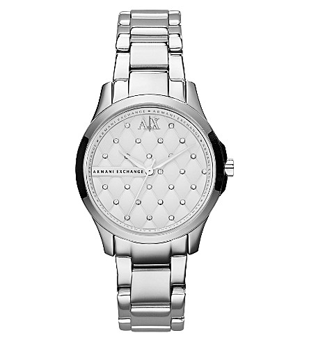 ARMANI EXCHANGE AX5208 crystal-detailed watch (Silver
