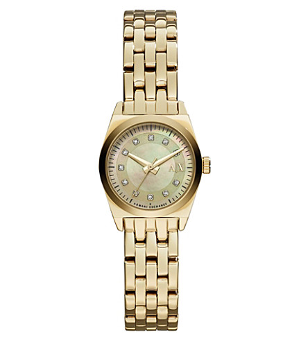 ARMANI EXCHANGE AX5331 stainless steel watch (Gold