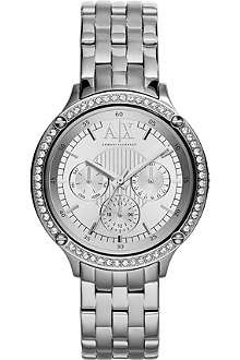 ARMANI EXCHANGE AX5401 crystal-embellished watch