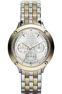 ARMANI EXCHANGE AX5402 two-toned watch