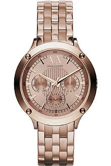 ARMANI EXCHANGE AX5403 rose gold-toned watch