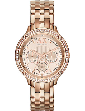ARMANI EXCHANGE AX5406 Active rose gold-toned watch