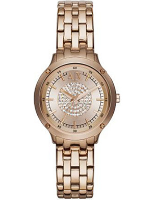 ARMANI EXCHANGE AX5416 rose gold-plated stainless steel watch