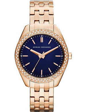 ARMANI EXCHANGE AX5511 rose gold-plated PVD watch
