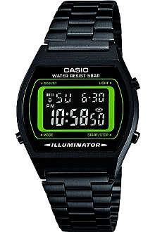 CASIO B640WB3BEF black ion-plated digital watch