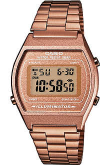 CASIO B640WC5AEF unisex rose gold-plated digital watch