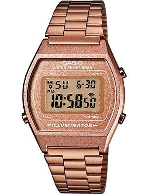 CASIO B640WC5AEF unisex rose gold-plated digital watch