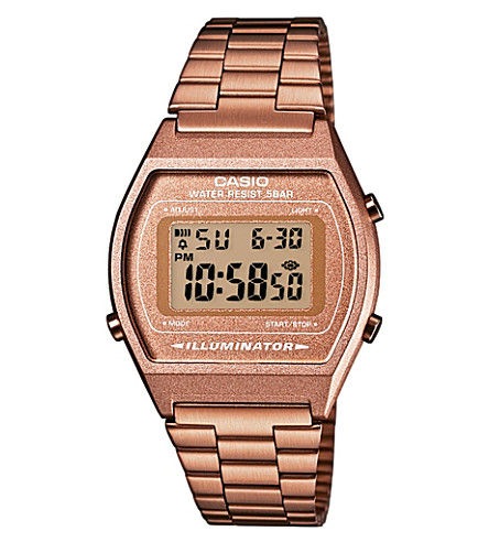 CASIO B640WC5AEF unisex rose gold-plated digital watch (Rose gold