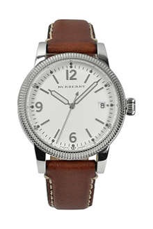 BURBERRY BU7823 The Utilitarian stainless steel and leather watch