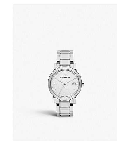 BURBERRY BU9000 stainless steel bracelet watch (Silver