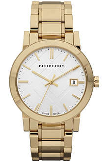 BURBERRY BU9003 gold-toned stainless steel watch