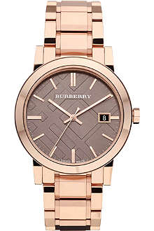 BURBERRY BU9005 rose gold-plated bracelet watch