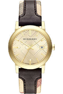 BURBERRY BU9032 The City gold-plated watch