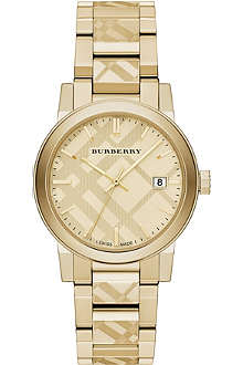 BURBERRY Bu9038 gold-toned watch