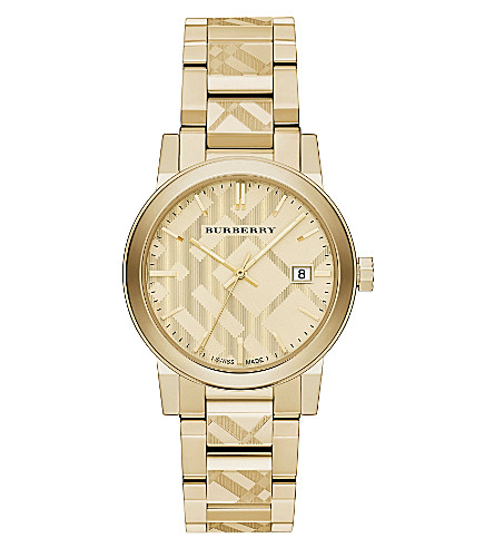 BURBERRY Bu9038 gold-toned watch (Gold
