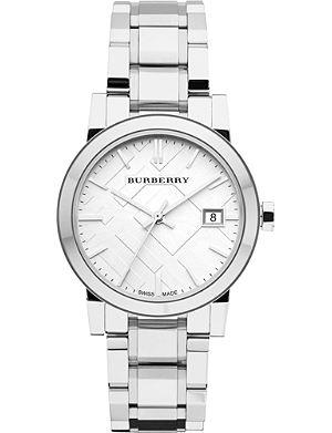 BURBERRY BU9100 stainless steel watch