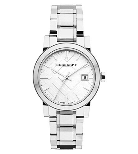 BURBERRY BU9100 stainless steel watch (Silver