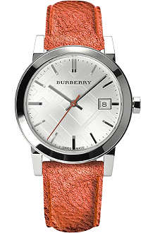 BURBERRY BU9121 The City stainless steel and leather watch