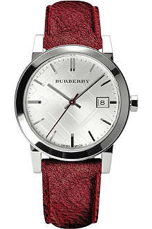 BURBERRY BU9123 The City stainless steel and leather watch