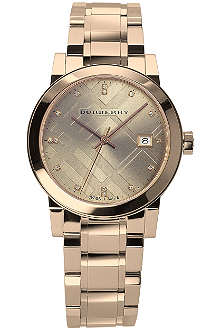 BURBERRY BU9126 rose gold-plated stainless steel watch