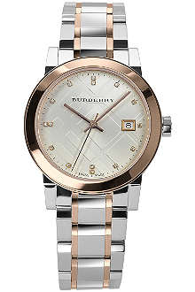 BURBERRY BU9127 The City steel and rose gold-plated watch