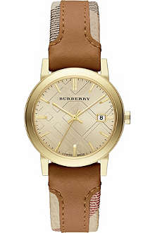 BURBERRY The City BU9133 gold-toned stainless steel watch