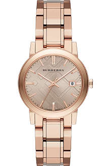 BURBERRY The City BU9135 rose gold-toned watch