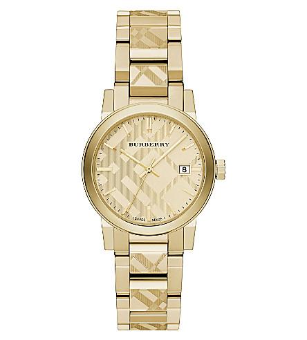 BURBERRY BU9145 gold-tone bracelet watch (Gold