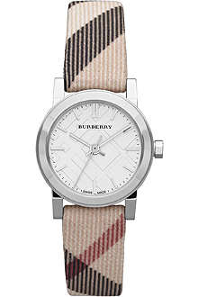 BURBERRY BU9212 stainless steel and fabric watch