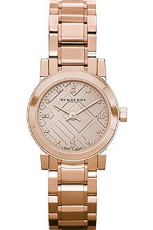 BURBERRY BU9215 rose gold-plated stainless steel watch