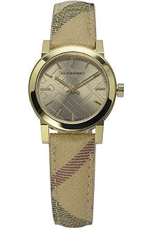 BURBERRY BU9219 The City steel and leather watch