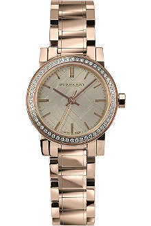 BURBERRY BU9225 The City rose gold-plated watch