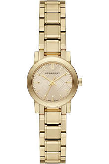 BURBERRY The City BU9227 gold-toned stainless steel watch