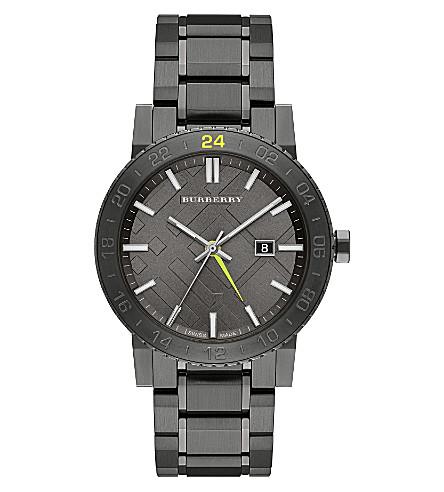 BURBERRY BU9340 gunmetal watch (Silver