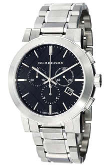 BURBERRY BU9351 stainless steel chronograph watch