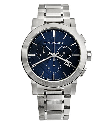 BURBERRY BU9363 atainless steel chronograph watch (Blue