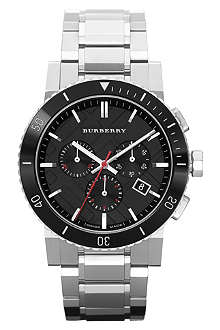BURBERRY BU9380 stainless steel chronograph watch