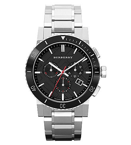 BURBERRY BU9380 stainless steel chronograph watch (Silver
