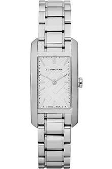 BURBERRY BU9500 Stainless steel rectangular watch