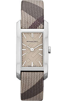 BURBERRY BU9504 stainless steel and fabric watch