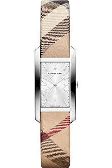 BURBERRY BU9508 The Pioneer steel and leather watch