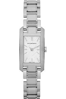 BURBERRY BU9600 stainless steel rectangular watch