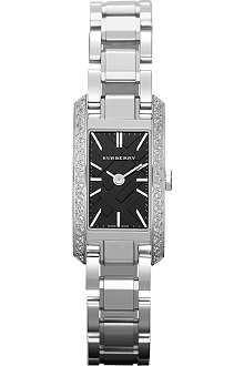 BURBERRY BU9604 diamond-set stainless steel watch